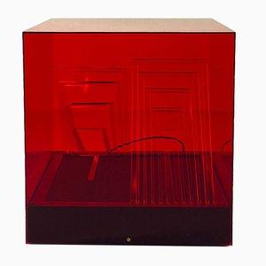 Lampada da tavolo Teo Cube di James Rivière per Centro Ricerche Arte Industria, anni '70