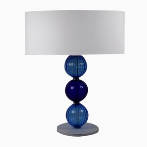 Blue on Blue Table Lamp by Eros Raffael