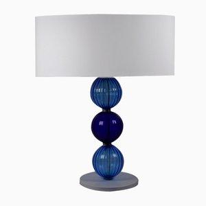 Tischlampe in Blautönen von Eros Raffael