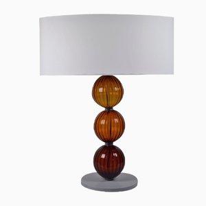 Lampada da tavolo ambrata di Eros Raffael