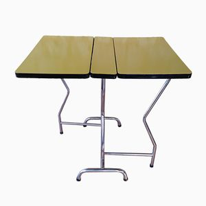 Vintage Formica and Chrome Folding Table
