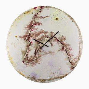 Orologio grande da parete LGC1 in vetro di Craig Anthony