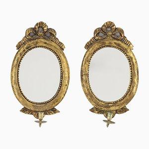 Porte-Bougies et Miroirs Vintage, Set de 2
