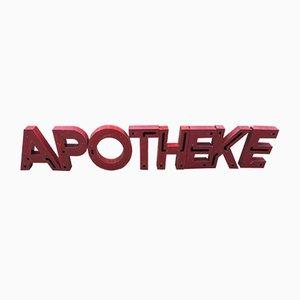 Letras de Apotheke vintage de metal