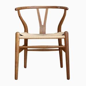 Oak Wishbone Model CH24 or Y Chair by Hans J. Wegner for Carl Hansen & Søn, 1950s