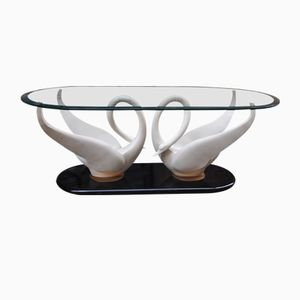 Swan Coffee Table from Maison Jansen, 1970s