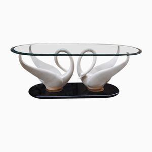 Tavolino da caffè Swan di Maison Jansen, anni '70