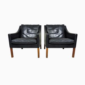 Model 2207 Lounge Chairs by Børge Mogensen for Fredericia Stolefabrik, 1960s, Set of 2