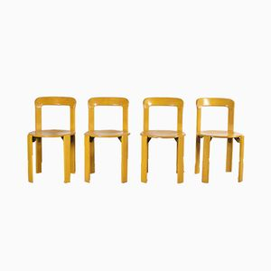 Stackable Chairs by Bruno Rey for Dietiker, 1970s, Set of 4