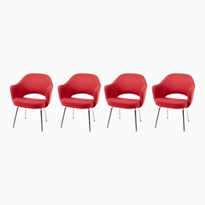Poltrone esecutive di Eero Saarinen per Knoll International, 1975, set di 4