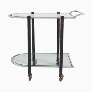 Art Deco Bauhaus Modernist Bar Cart/Serving Table, 1930s