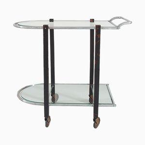 Carrito de bebidas o mesa de servicio Bauhaus Art Déco moderna, años 30