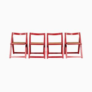 Foldable Chairs, 1980s, Set of 4