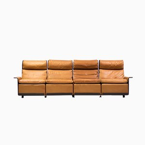 RZ 620 Four-Seat Leather Sofa by Dieter Rams for Vitsoe, 1978