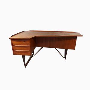 Schreibtisch aus Teak in Bumerang-Optik von Peter Løvig Nielsen für Løvig, 1950er
