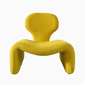 Yellow Djinn Chair by Olivier Mourgue for Airborne, 1960s