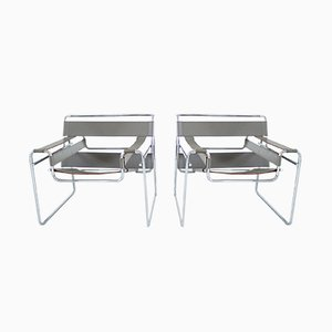 Wassily Chairs by Marcel Breuer for Knoll International, 1980s, Set of 2