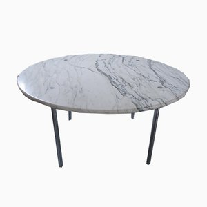 Large Carrara Marble Dining Table by Estelle & Erwin Laverne for Laverne International, 1951