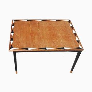 Mesa de comedor ajustable de teca, años 60