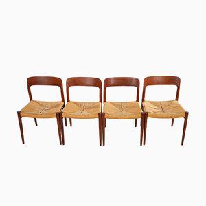 Chaises de Salle à Manger Modèle 75 Vintage par Niels Otto Møller pour J.L. Møllers, Set de 4
