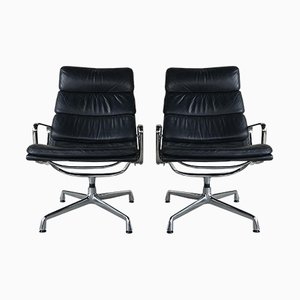 Vintage EA216 Swivel Chairs by Charles & Ray Eames for Herman Miller, set of 2