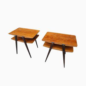 Scandinavian Teak & Mahogany Nightstands, 1960s, Set of 2