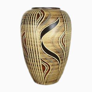 Große deutsche Keramikvase von Franz Schwaderlapp für Sawa Keramik, 1960er