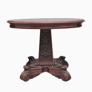 Antique Carved Walnut Occasional Table, 1880s