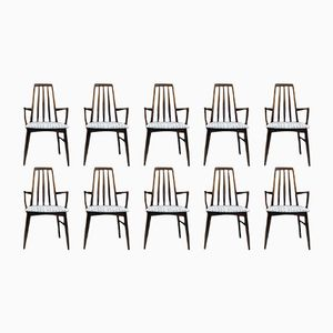 Dining Chairs by Niels Koefoed for Koefoed Hornslet, 1960s, Set of 10