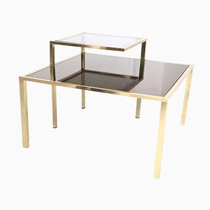 Square Brass Coffee Table, 1980s