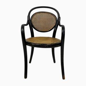 Antiker Kinderstuhl aus Bugholz & Schilfrohr von Michael Thonet für Thonet