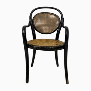 Antique Children's Bentwood and Cane Armchair by Michael Thonet for Thonet