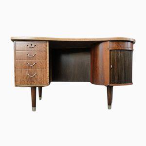 Walnut Desk by Kai Kristiansen for FM Møbler, 1960s