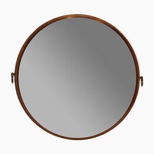 Vintage Round Mirror, 1970s