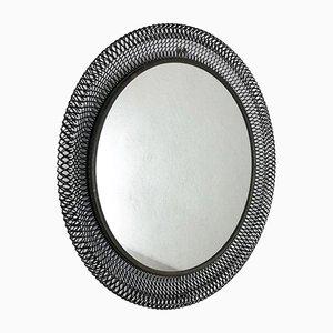 Mid-Century Spiegel aus Metall von Bauhaus Metal Rigituelle, 1950er