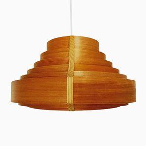 Swedish Wooden Pendant Lamp, 1960s