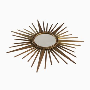 Specchio Sunburst piccolo di Chaty Vallauris AM, anni '50