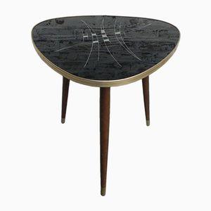 Mesa de centro vintage triangular, años 50