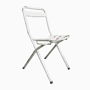 Vintage Industrial Steel Folding Chair