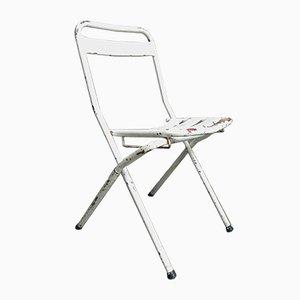Vintage Industrial Steel Folding Chair