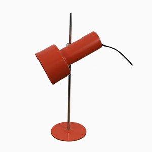 Vintage Red Metal Table Lamp, 1970s