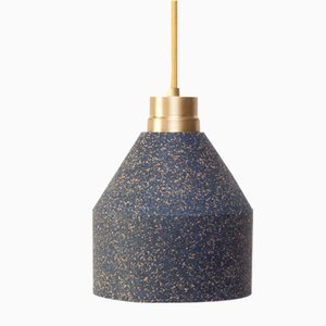 70 WS Lamp in Blue Cork with Colored Dots by Paula Corrales Studio