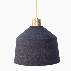 Blaue 164 WS Lampe aus Kork von Paula Corrales Studio