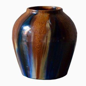 Vintage Jugendstil Vase von Léon Elchinger Alsace für Keramiks Elchinger