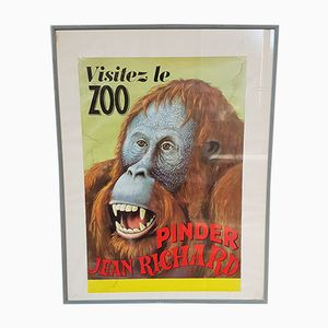 Vintage French Circus Poster from Imprimerie Chabrillac