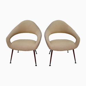 Model DU 55 P Lounge Chairs by Gastone Rinaldi for Rima, 1950s, Set of 2