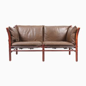 Vintage Ilona Sofa in Patinated Leather by Arne Norell for Arne Norell AB