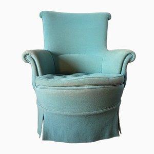 Mid-Century Light Blue Lounge Chair, 1950s