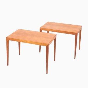 Tables d'Appoint Mid-Century par Severin Hansen pour Haslev Møbelsnedkeri, 1950s, Set de 2