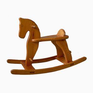 Vintage Wooden Rocking Horse, 1970s